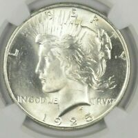 (1) BU $1 1925 Peace Silver Dollars Dripping with luster Unc MS 90% Bulk & Save