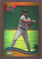 "ALEX GONZALEZ TORONTO BLUE JAYS BLACK REFRACTOR MINT SP 2003 TOPPS CHROME ""GEM"""