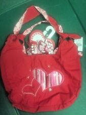 Nwt valentines day red hearts 2 pcs lot purse korkers curly ponytail hair holder