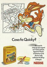 X2534 Nesquik Nestlè - Quicky - Pubblicità 1991 - Advertising