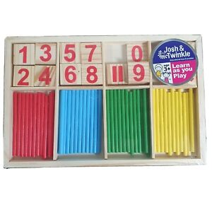 COUNTING STICKS & NUMBERS MATHEMATICS MATHS EDUCATIONAL LEARNING SCHOOL CHILDREN