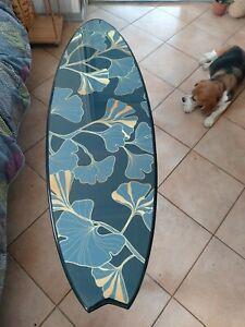 Surfboard Table,Gingko, Surfing gift, Art Decor New