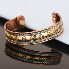 Bracelet Women'S Cuff Link Copper Healing Bio Magnetic Pain Therapy Bangle