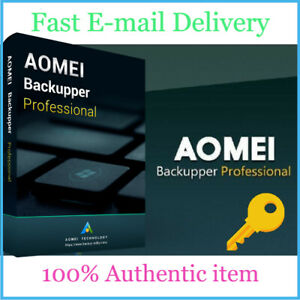 AOMEI Backupper Professional - Unlimited Full version - 100% 0riginal - E-mail