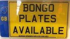 Mazda Bongo/Ford Freda Registration/Number Plate WITH BADGE