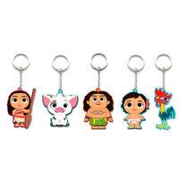PVC Action Figure Princess Moana Maui Adventure Accessories Key Rings Gift
