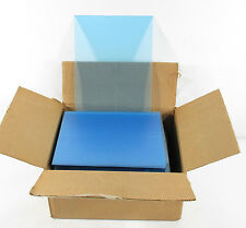 """Over (225) Clear Acrylic 8"""" x 10"""" Display w/ Blue Peel-Off Cover ^ Photo Frame"""