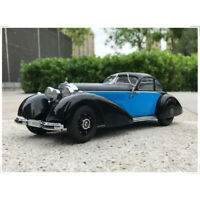 1:18 KK Scale Mercedes Benz 540K Type W24 Black & Blue Diecast Car Model W/Case