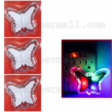 Multi-Color Butterfly Wall Socket LED Night Light Lamp Baby Kids Bedroom Decor
