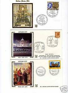 Vatican; Special Gold Silk Covers from 1975-76
