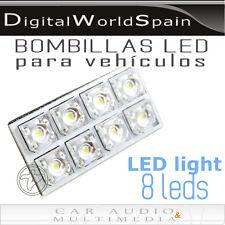 PANEL 4 x 2cm BOMBILLAS DE LED FESTOON 8 LEDS BLANCO ENVIO GRATIS