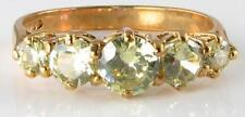 DIVINE 9K 9CT GOLD PERIDOT HALF ETERNITY ART DECO INS RING FREE RESIZE L-Q 1/2