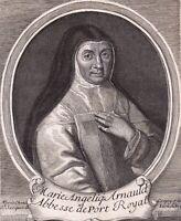 Portrait XVIIIe Marie Angélique Arnauld Abbesse Port Royal Réforme Jansénisme