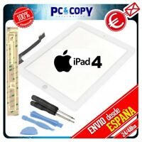 PANTALLA TACTIL IPAD 4 BLANCA DIGITALIZADOR GEN CRISTAL TOUCH SCREEN iPad4 + ADH