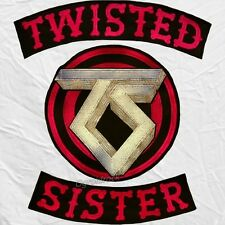 Twisted Sister Replica Jacket Logo Embroidered Big Patches Rock Metal Dee Snider