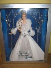 HOLIDAY VISIONS BARBIE 2003 CHRISTMAS WINTER DOLL CROWN GOWN SILVER blonde