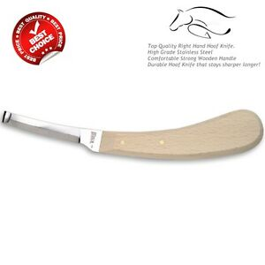 New Farrier Hoof Knife Single Sided Blade Right Hand Equine Instruments CE