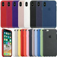 Funda para Apple iPhone XR XS X 8+ 7 6 Plus Original carcasas Silicona Genuina