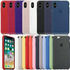 Funda para Apple iPhone XR XS X 8+ 7 6 Plus Original carcasas Silicona Genuina