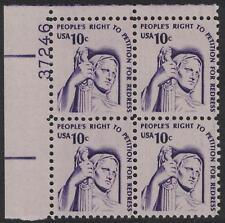 Scott 1592- Shiny Gum- MNH Plate Block- 10c Justice, Americana Series- mint