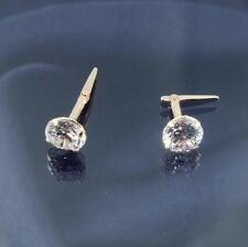 9ct Gold 5mm Round Cubic Zirconia Andralok Stud Earrings.