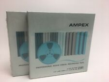 "2 Ampex Professional Audio Visual Recording Tape 1/4"" x 600' #291 5"" Reel NEW!"