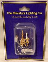 Dolls House Miniature 1/12th Scale White Wired Single Candle Wall Light LT2097