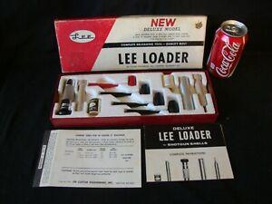 """Vintage Lee Loader Deluxe Model 20 Gauge 3"""" Shotgun Shell Reloading Set"""