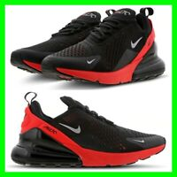 NEW IN Nike Air Max 270 Mens Trainers Black-Red-Silver Shoes UK 6-12 AH8050-026