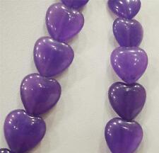 """Heart-shaped 12x12mm Russian Amethyst Gemstone Purple Heart Loose Beads 15"""""""