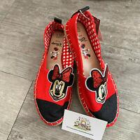 UK 3 4 Ladies Disney Minnie Mouse Espadrilles Flat Shoes Primark Womens Pumps