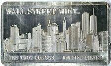 WALL STREET MINT 10 troy ounces .999 Fine Silver Bar (PM894-4) 99c NO RESERVE
