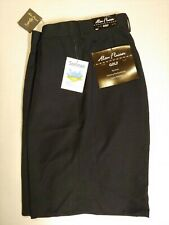 Alan Flusser NWT Men's Black Pleated Front Golf Shorts Size 38 No Iron Wicking