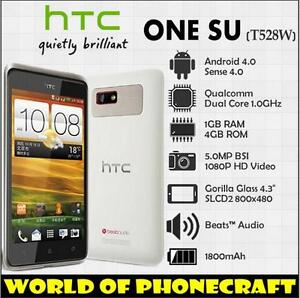 "Unlocked HTC One SU T528w GPS WiFi 3G 5MP 4.3"" Original Dual SIM Dual Core Phone"