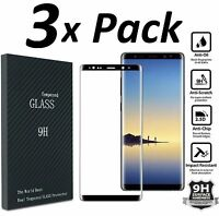 3x Full Cover Tempered Glass Screen Protector For Galaxy S7 EDGE S8 Plus Note 8