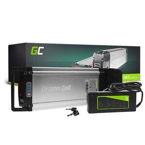 E-Bike Akku 36V 12Ah Li-Ion Elektrofahrrad Rear Rack Batterie + Ladegerät