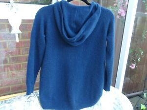 Marks & Spencer Autograph  Navy  100% Cashmere Cape Style Hooded Jumper Hoodie