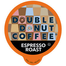 Double Donut Espresso Roast Coffee, in Recyclable Single Serve Cups, 80 Count