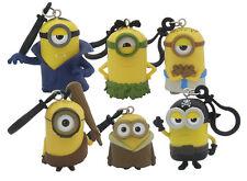 Minions All 6 Brand New Key Chains Great Kids Movie