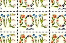 1982 - LOVE (FLOWERS) - #1951 Full Mint -MNH- Sheet of 50 Postage Stamps