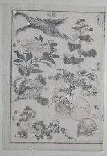 Hokusai manga: Plantas y verduras: Original de la impresión xilografía japonesa (xilografía)