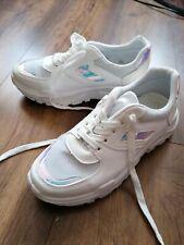Schuhe Sneaker Plateau Holographic Weiß Größe 40