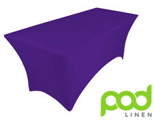 PURPLE CADBURY spandex lycra stretch cover tablecloth for 6ft foot table 180X75