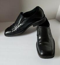 """Black Slip-On Loafers Borelli Mens """"Matthew"""" US 9.5  Square Toe Dress Shoes"""