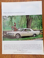 1965 Lincoln Continental Ad Elegant Understatement