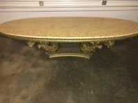 Gorgeous ABALONE Shell COFFEE TABLE - 1960s Hollywood Regency Era