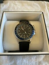 "Discontinued Timex Allied Three GMT ""Batman"" TW2R43600-Unworn Leather Band!"