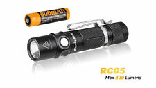 USB Rechargeable LED Flashlight Fenix RC05 300LM CREE XP-G2 EDC Torch + Battery