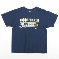 Vintage ADIDAS Notre Dame Fightin' Irish Football Blue T-Shirt Men's Size Large