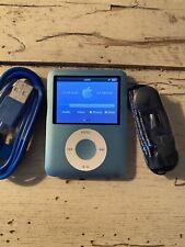 Apple iPod Nano 3rd Generation 8 GB Blue USED BUNDLE